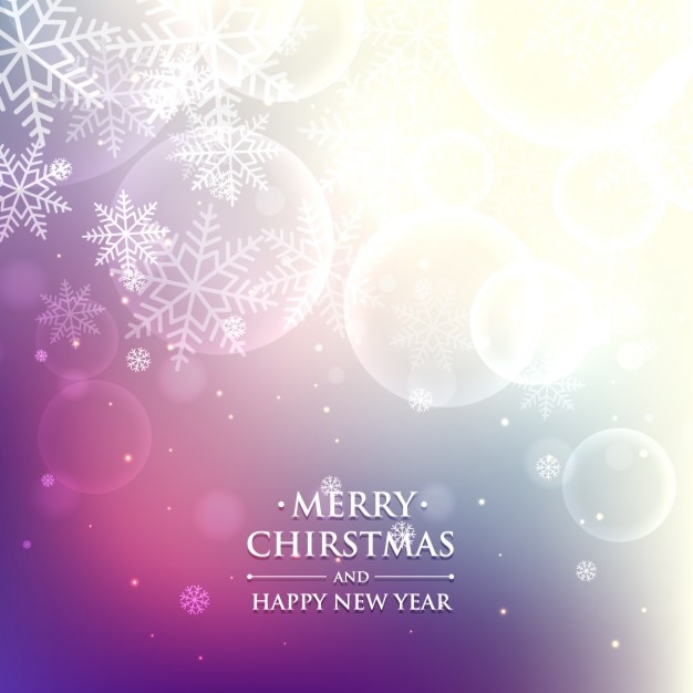 Purple christmas background in bokeh style Vector | Free Download