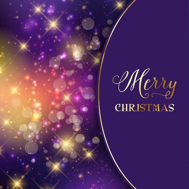 purple christmas background with lights vector free download