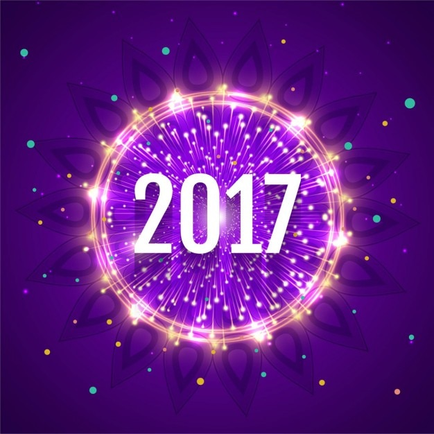 purple circles 2017 background with shiny ring