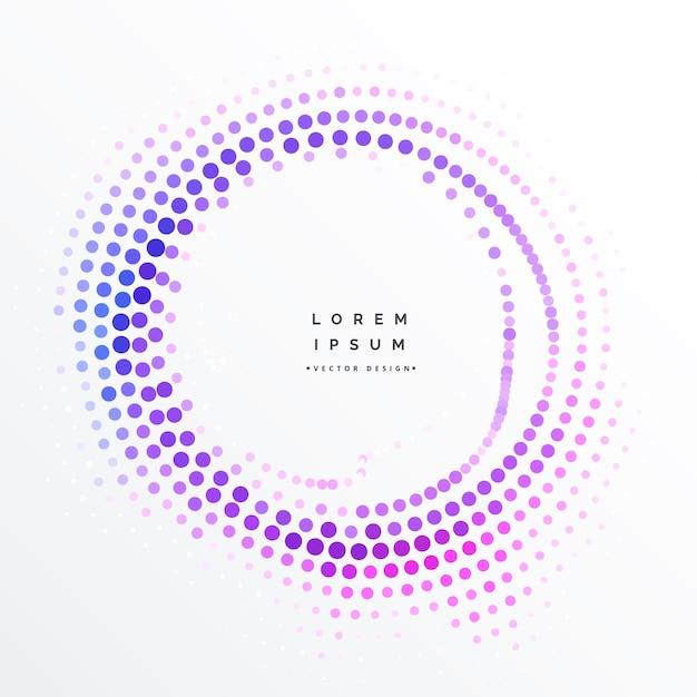 Purple circular halftone dots background Free Vector
