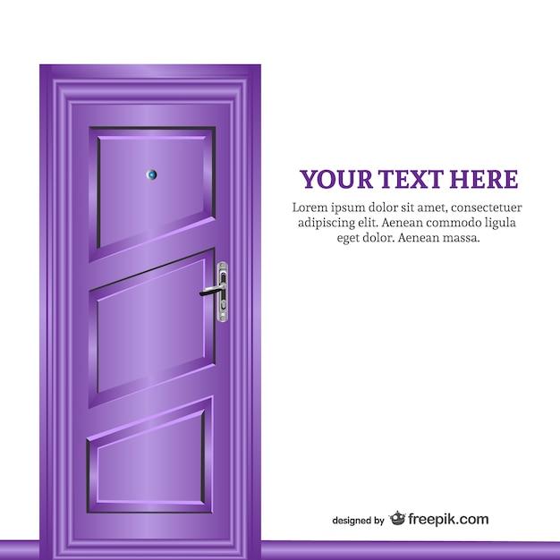 Purple closed door Free Vector