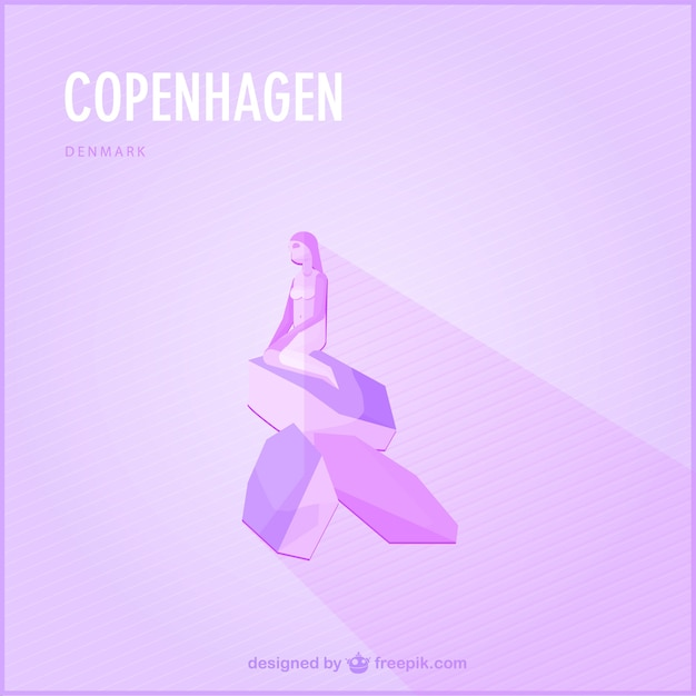 Purple copenhagen siren Free Vector