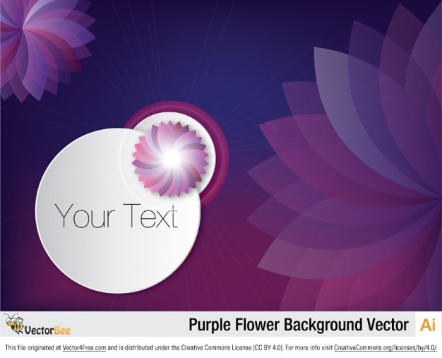 Purple floral background with abstract\ flowers