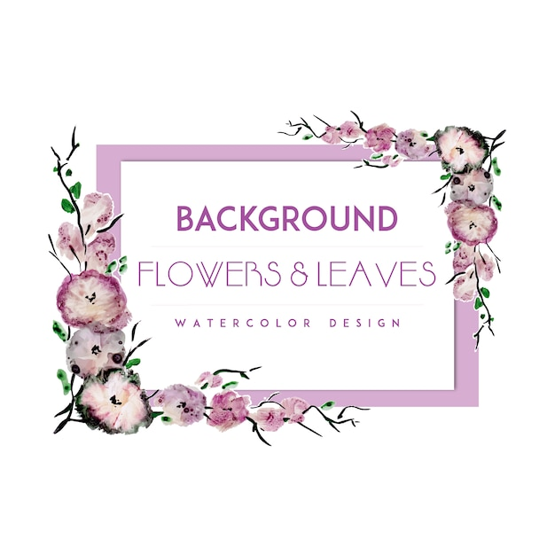 Purple flower frame background