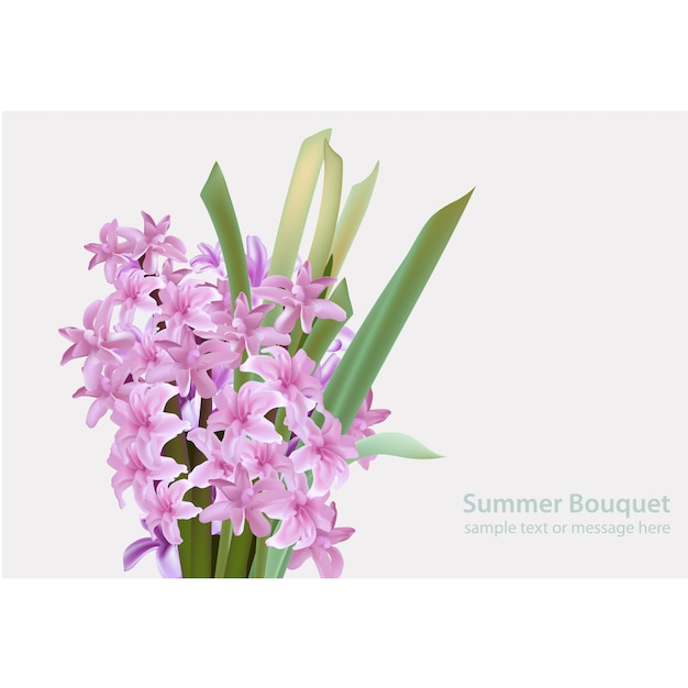 Purple flower template