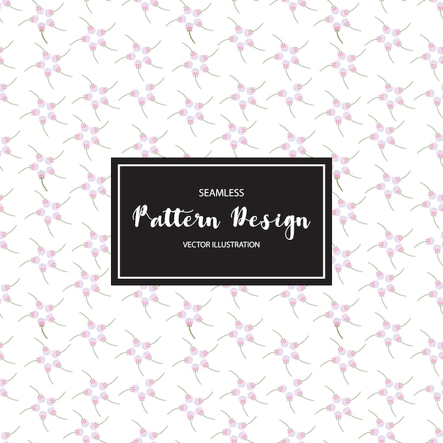 Purple flowers pattern background