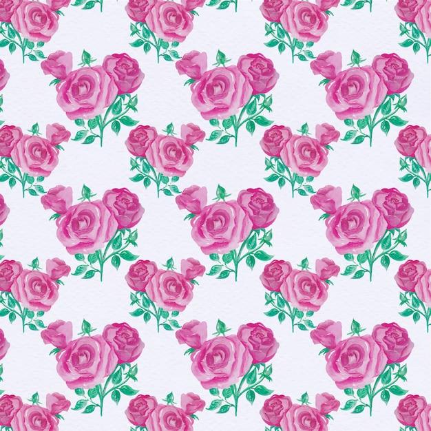 Purple flowers pattern background