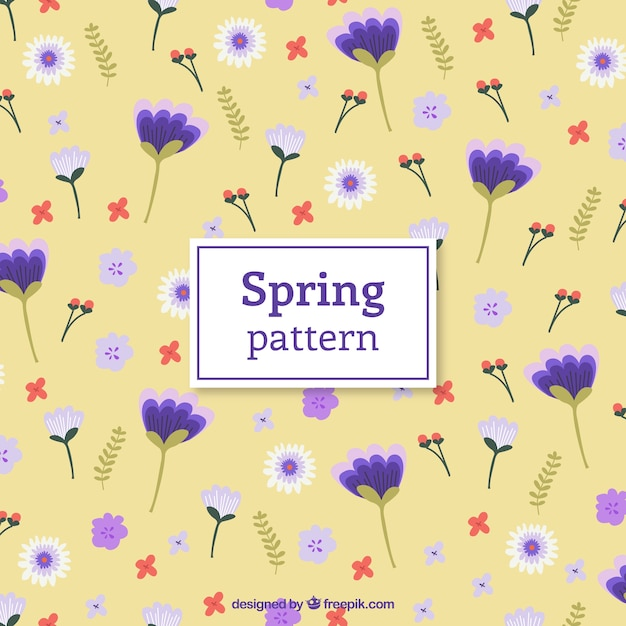 Purple flowers pattern