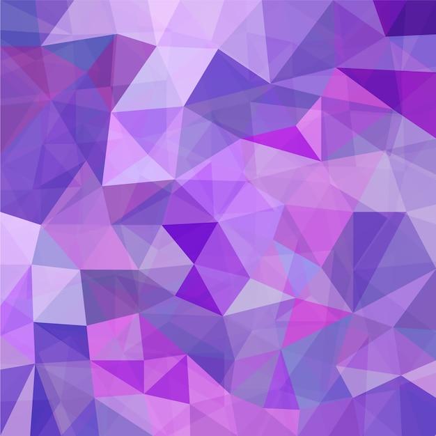 Purple geometric mosaic background Free Vector