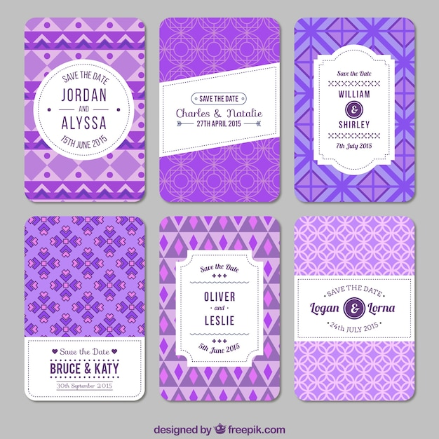 Purple geometric wedding invitations vector free download purple geometric wedding invitations free vector stopboris Choice Image