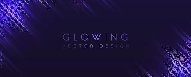 Purple glowing neon background vector Free Vector