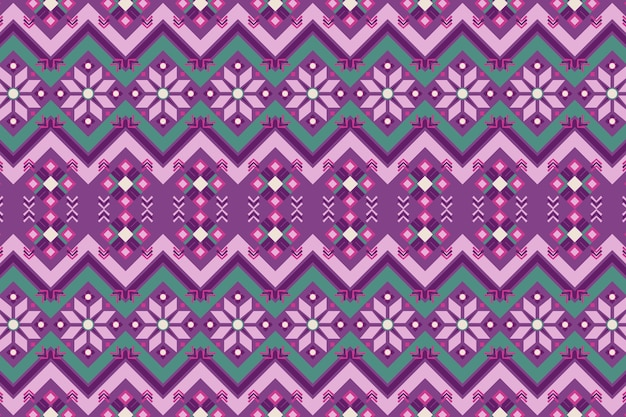 Purple and green songket pattern Free Vector