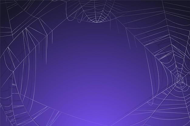 Фиолетовый фон хэллоуина с пустым пространством Бесплатные векторы