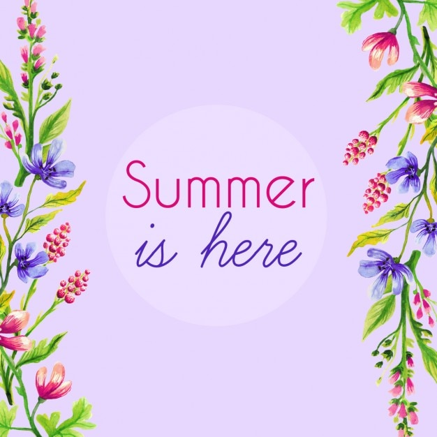 Purple hand painted summer background