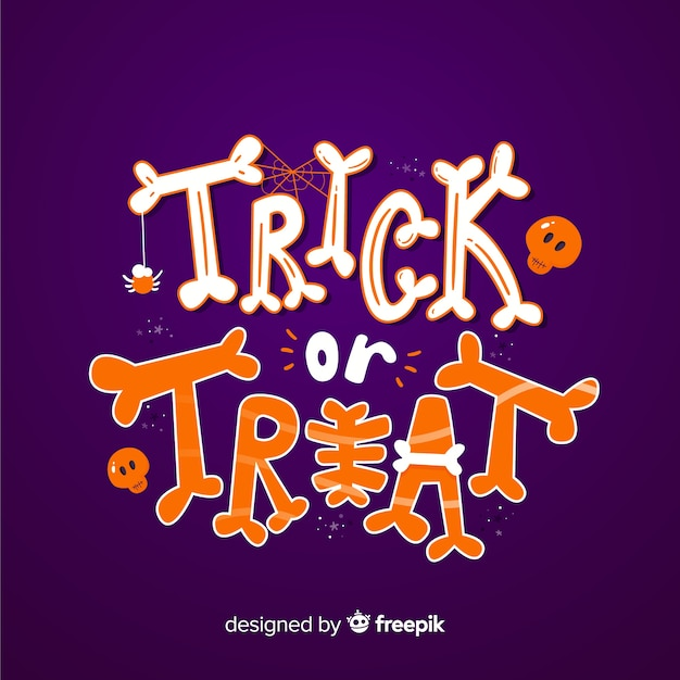 Purple happy halloween lettering Vector | Free Download