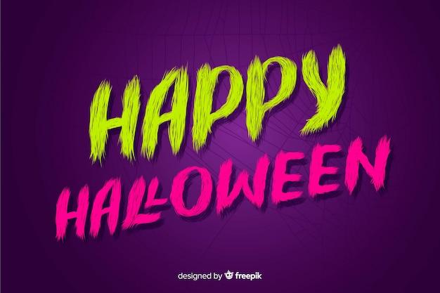 Purple happy halloween lettering Free Vector