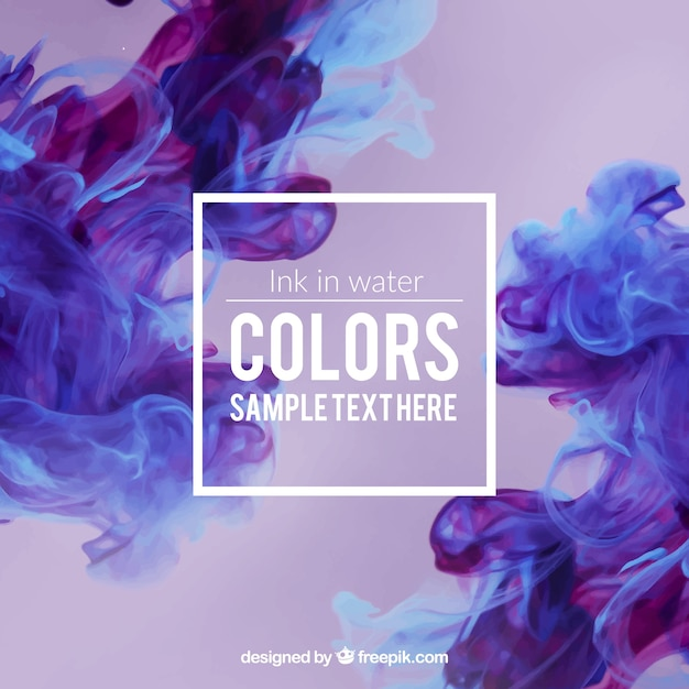 Purple ink in water Free Vector