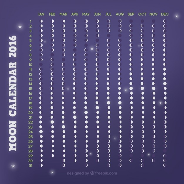 Purple moon calendar 2016