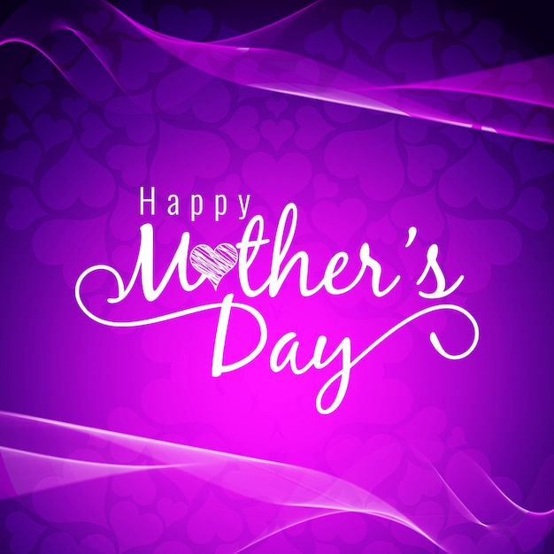Purple mothers day design