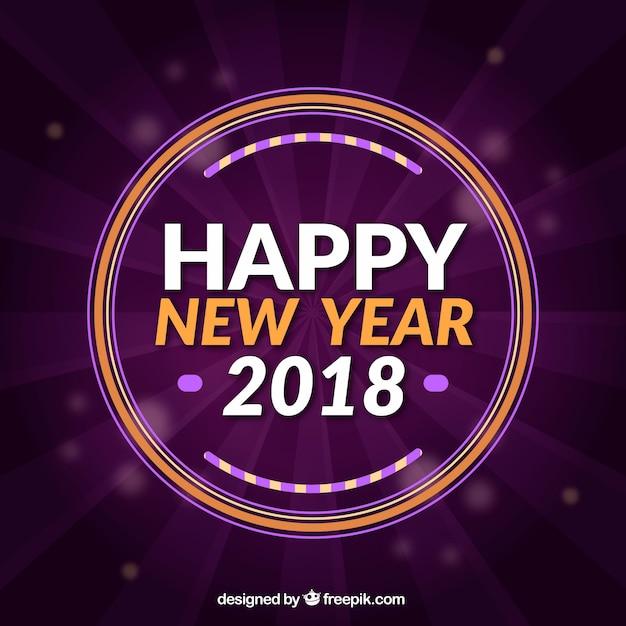Purple new year background in flat design