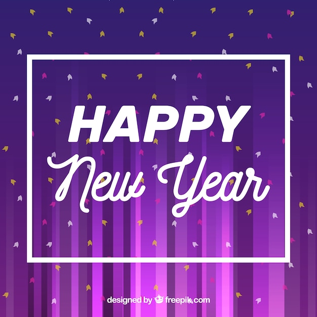 purple new year background