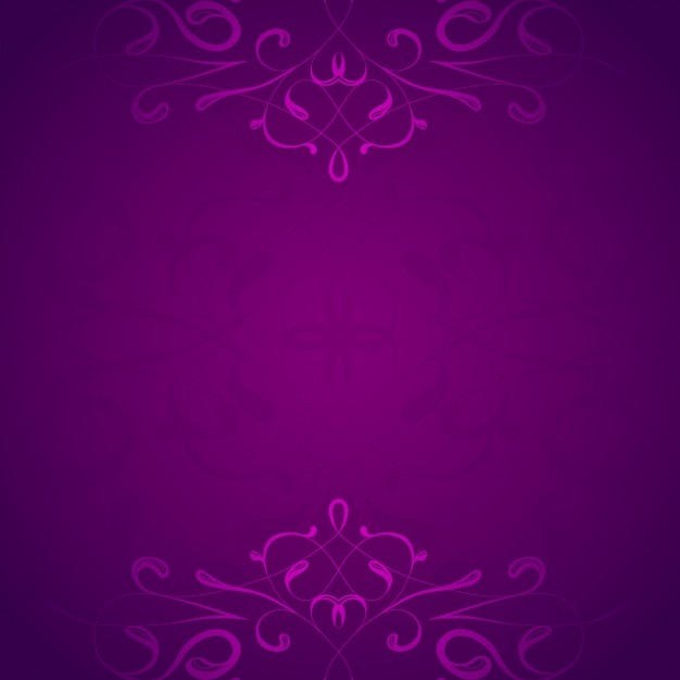 Purple ornamental background Free Vector