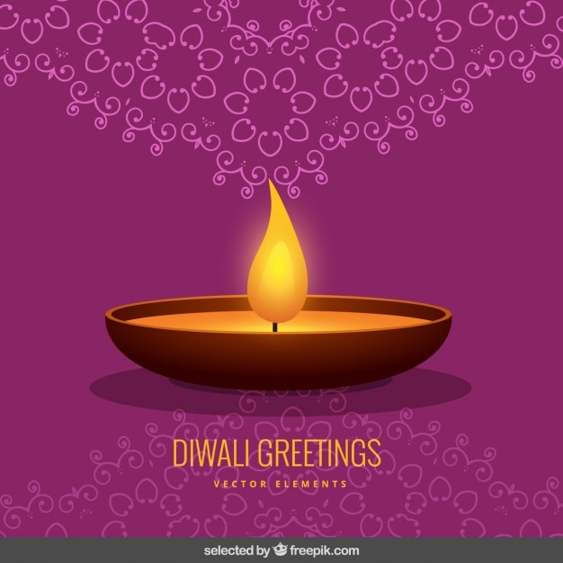 Purple ornamental diwali greeting vector free download purple ornamental diwali greeting free vector m4hsunfo