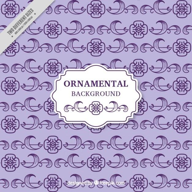 Purple ornamental flowers background