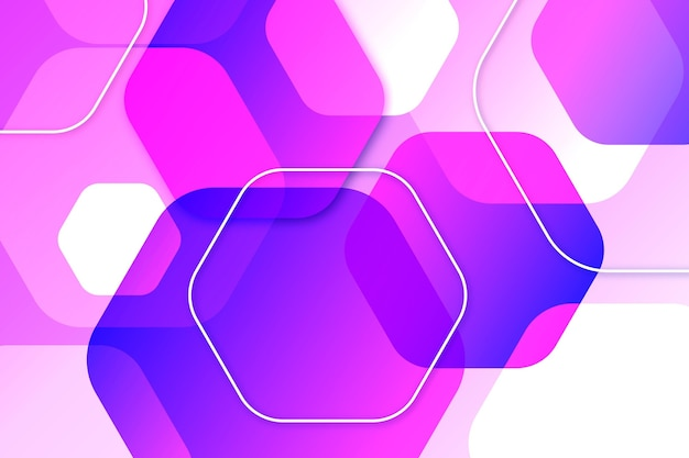 Purple overlapping forms background Free Vector