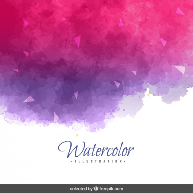 Purple and pink watercolor background Free Vector