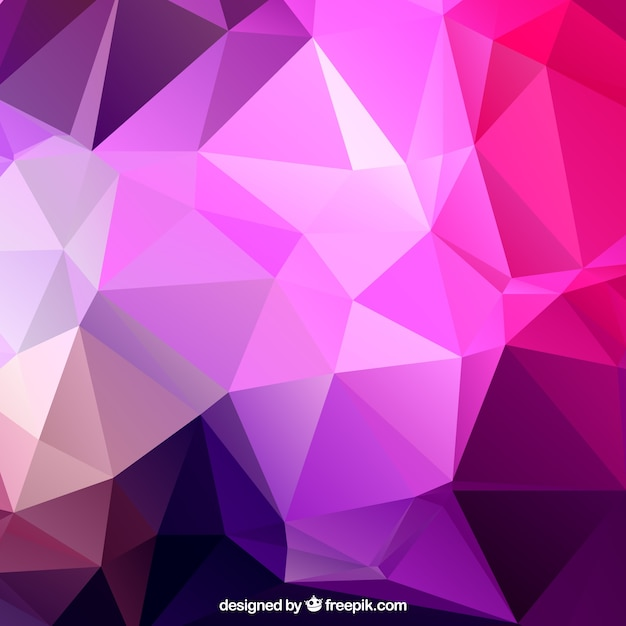 Purple Polygonal Abstract Background: Purple Polygons Background Vector