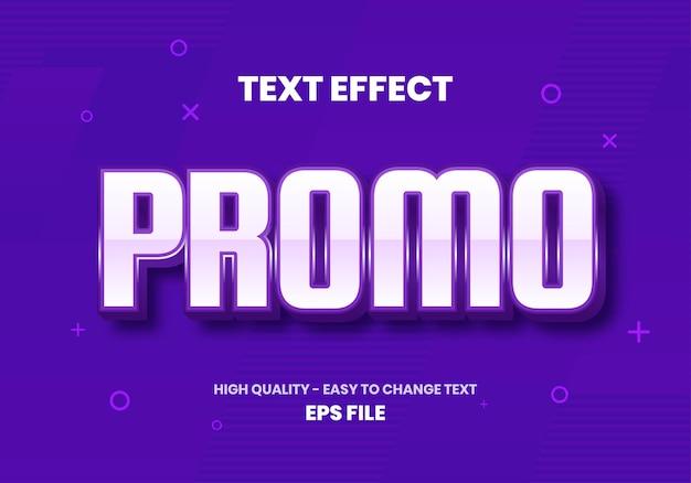 Purple promo text teffect Premium Vector