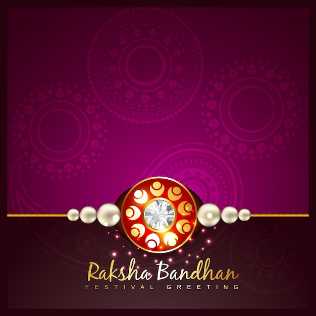 Purple raksha bandhan design Free Vector