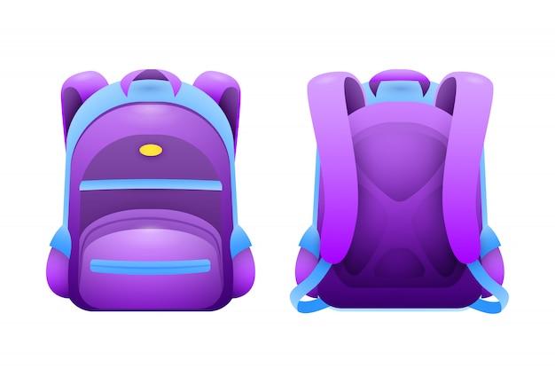 Purple school bag Free Vector