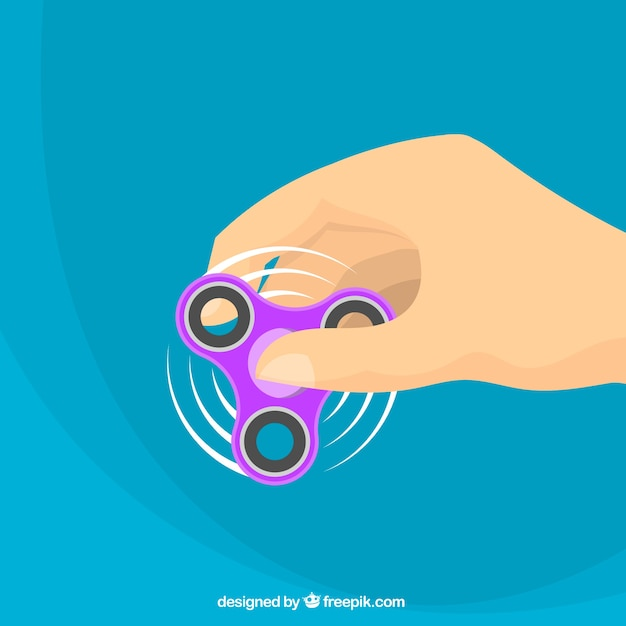Purple spinner blue background Free Vector