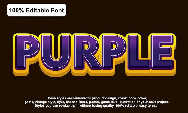 Purple sticker text effect Premium Vector