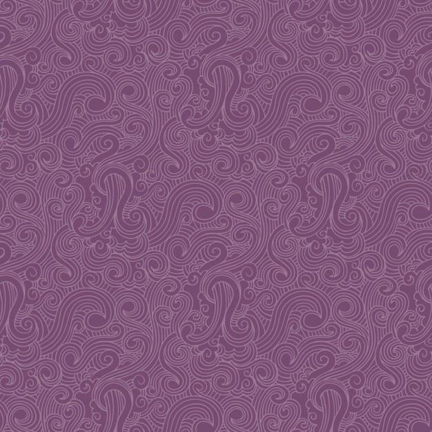 Purple swirls pattern Vector | Free Download