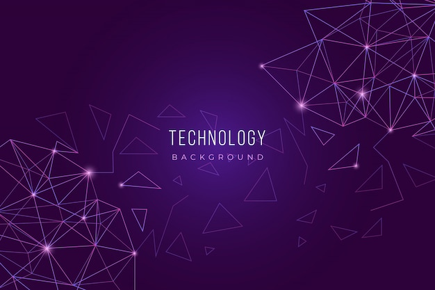 Purple technology background Free Vector