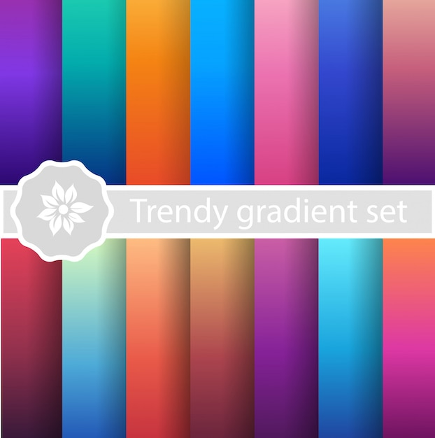 Purple trendy set ultraviolet Premium Vector