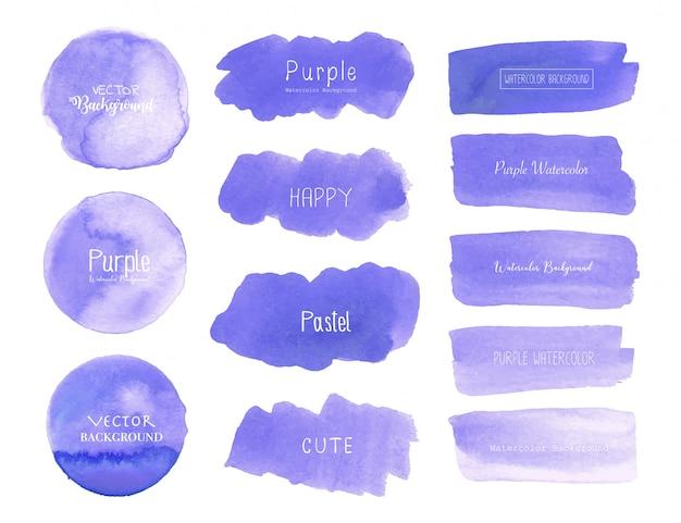 Purple watercolor background Premium Vector