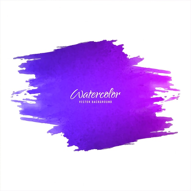 Purple Watercolor Brush Background Vector