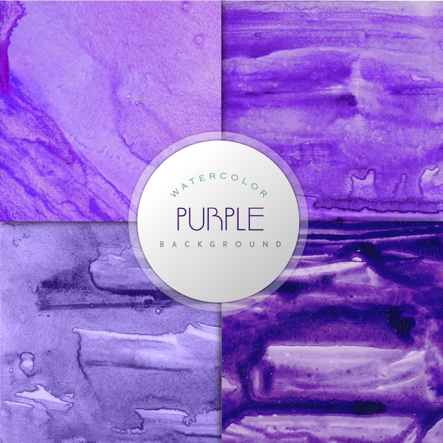Purple watercolor effect background\ collection