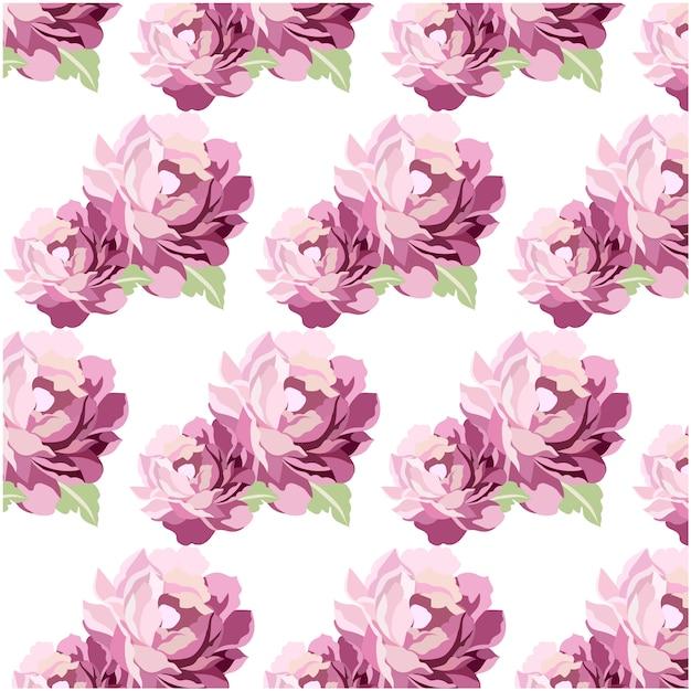 Purple watercolor flowers pattern\ background