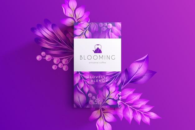 Purple watercolor flowers wallpaper Free Vector