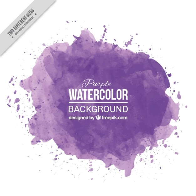 Purple watercolor splashes background Free Vector