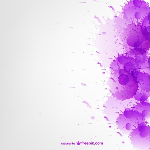 Purple watercolor splatter background Free Vector