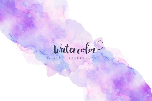 Purple watercolor stain background Free Vector
