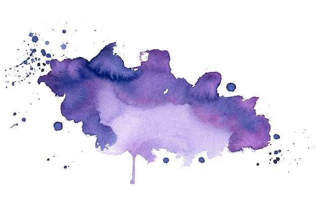 보라색 수채화 얼룩 질감 추상적 인 배경 무료 벡터