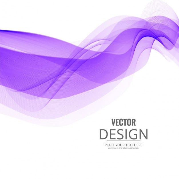 Free Vector Purple Wave On White Background