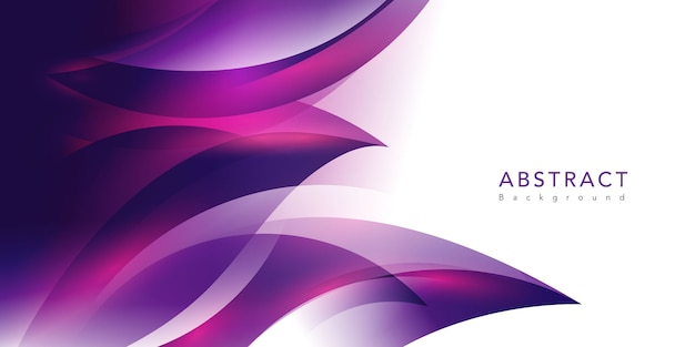 紫色の波 無料ベクター